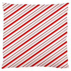 Candy Cane Stripes Large Flano Cushion Case (one Side)