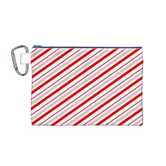 Candy Cane Stripes Canvas Cosmetic Bag (m)