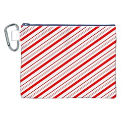 Candy Cane Stripes Canvas Cosmetic Bag (xxl)