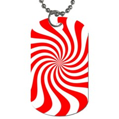 Peppermint Candy Dog Tag (one Side)