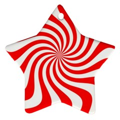 Peppermint Candy Star Ornament (two Sides)