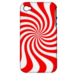 Peppermint Candy Apple Iphone 4/4s Hardshell Case (pc+silicone)