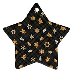 Gingerbread Dark Ornament (star)