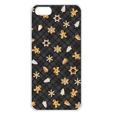 Gingerbread Dark Apple Iphone 5 Seamless Case (white)