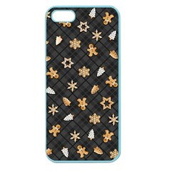 Gingerbread Dark Apple Seamless Iphone 5 Case (color)