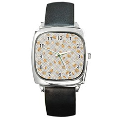 Gingerbread Light Square Metal Watch