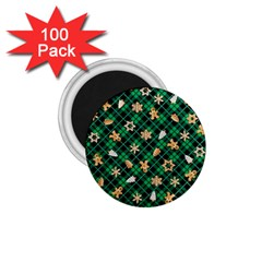 Gingerbread Green 1 75  Magnets (100 Pack)