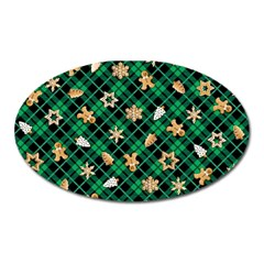 Gingerbread Green Oval Magnet