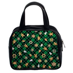 Gingerbread Green Classic Handbags (2 Sides)