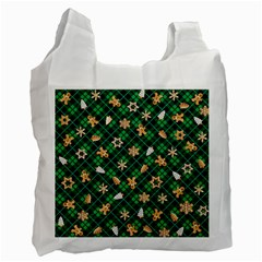 Gingerbread Green Recycle Bag (two Side)