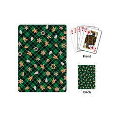 Gingerbread Green Playing Cards (mini)