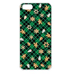 Gingerbread Green Apple Iphone 5 Seamless Case (white)