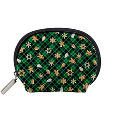 Gingerbread Green Accessory Pouches (small)