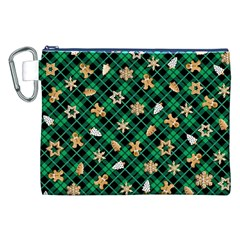 Gingerbread Green Canvas Cosmetic Bag (xxl)