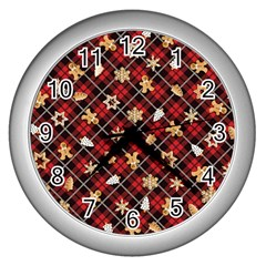 Gingerbread Red Wall Clocks (silver)