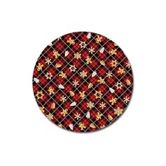 Gingerbread Red Magnet 3  (round)