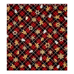 Gingerbread Red Shower Curtain 66  X 72  (large)