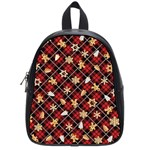 Gingerbread Red School Bag (Small) Front