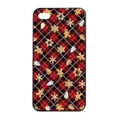 Gingerbread Red Apple Iphone 4/4s Seamless Case (black)
