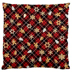 Gingerbread Red Large Cushion Case (one Side)