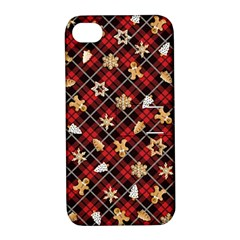 Gingerbread Red Apple Iphone 4/4s Hardshell Case With Stand