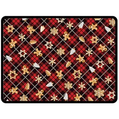 Gingerbread Red Double Sided Fleece Blanket (large)