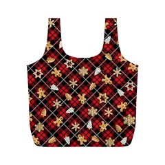 Gingerbread Red Full Print Recycle Bags (m)