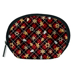 Gingerbread Red Accessory Pouches (medium)