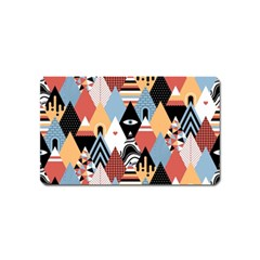 Abstract Diamond Pattern Magnet (name Card)