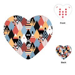 Abstract Diamond Pattern Playing Cards (heart)
