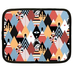 Abstract Diamond Pattern Netbook Case (large)