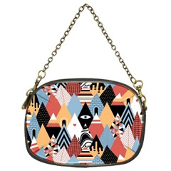 Abstract Diamond Pattern Chain Purses (two Sides)