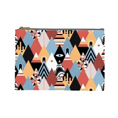 Abstract Diamond Pattern Cosmetic Bag (large)