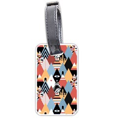Abstract Diamond Pattern Luggage Tags (two Sides)