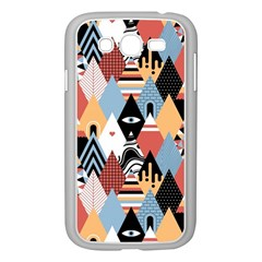 Abstract Diamond Pattern Samsung Galaxy Grand Duos I9082 Case (white)