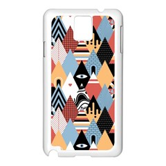 Abstract Diamond Pattern Samsung Galaxy Note 3 N9005 Case (white)