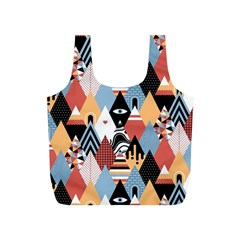 Abstract Diamond Pattern Full Print Recycle Bags (s)