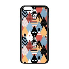 Abstract Diamond Pattern Apple Iphone 6/6s Black Enamel Case