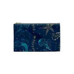 Arabesque Vintage Graphic Nature Cosmetic Bag (small)