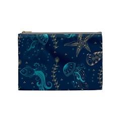 Arabesque Vintage Graphic Nature Cosmetic Bag (medium)