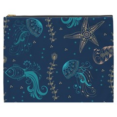 Arabesque Vintage Graphic Nature Cosmetic Bag (xxxl)