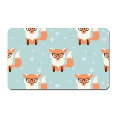 Cute Fox Pattern Magnet (rectangular)