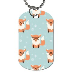 Cute Fox Pattern Dog Tag (one Side)