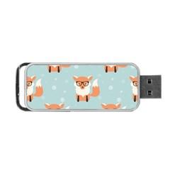 Cute Fox Pattern Portable Usb Flash (one Side)