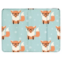 Cute Fox Pattern Samsung Galaxy Tab 7  P1000 Flip Case