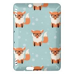 Cute Fox Pattern Kindle Fire Hdx Hardshell Case
