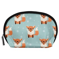 Cute Fox Pattern Accessory Pouches (large)