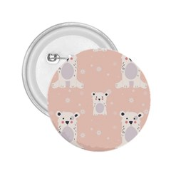 Cute Polar Bear Pattern 2 25  Buttons