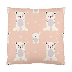 Cute Polar Bear Pattern Standard Cushion Case (two Sides)