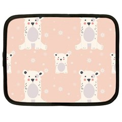 Cute Polar Bear Pattern Netbook Case (xl)